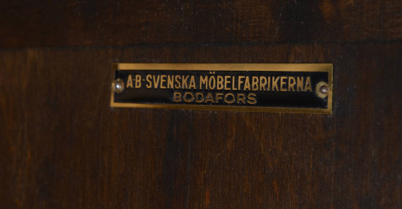 "Axel Einar Hjorth, Cabinet ""Roma"" in Stained Birch, Bodafors, Sweden, 1920s For Sale 2"