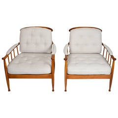 Pair of Skrindan Lounge Chairs by Kerstin Hörlin-Holmquist for OPE Möbler