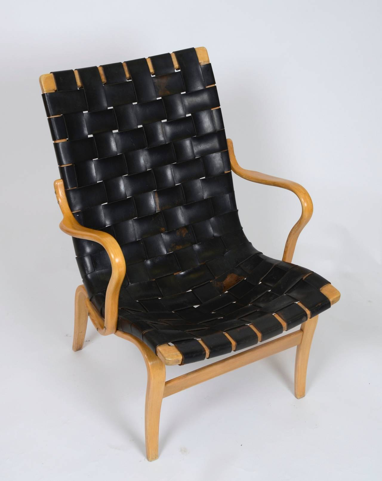 Armchair in leather, model Eva. Designed by Bruno Mathsson, 1941 for Karl Mathsson. Sweden, 1960´s.