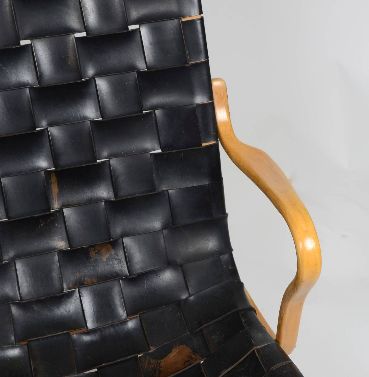 Beech Eva Chair In Leather by Bruno Mathsson for Karl Mathsson, Sweden For Sale