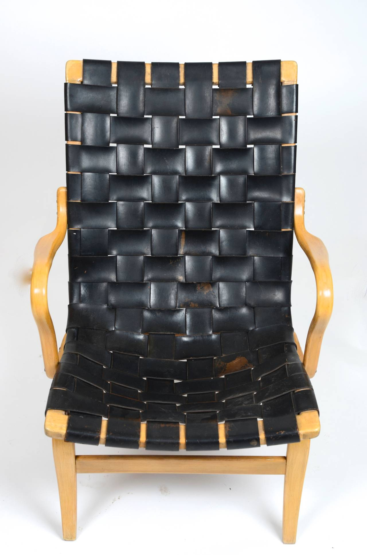 Swedish Eva Chair In Leather by Bruno Mathsson for Karl Mathsson, Sweden For Sale