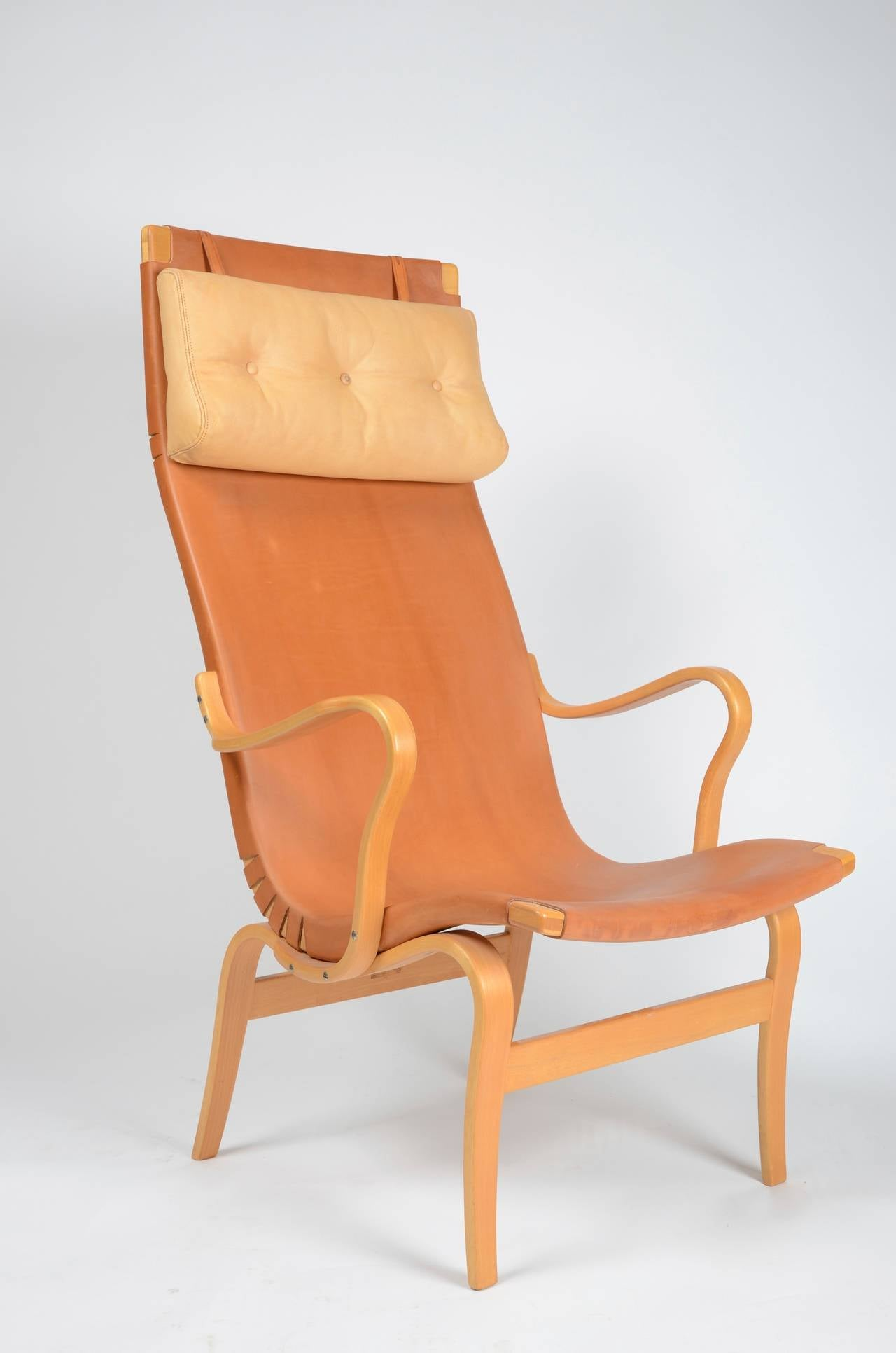 Chair high back Eva by Bruno Mathsson for Karl Mathsson Sweden