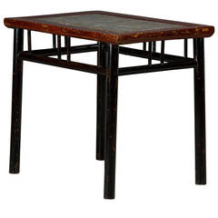"""""""Wine Table"""" with Stone Top Inlay"""