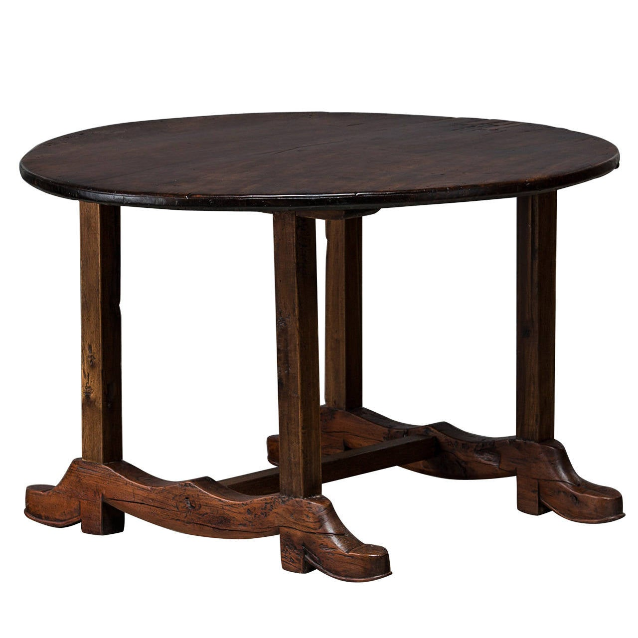 Round Dining Table Made Of Narra Hardwood At 1stdibs