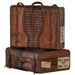 Set of Suitcases with Beautiful Patina, Uruguay 1920-1930