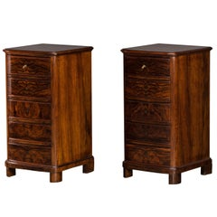 Pair of Chests of Drawers in Walnut, Frederik VII