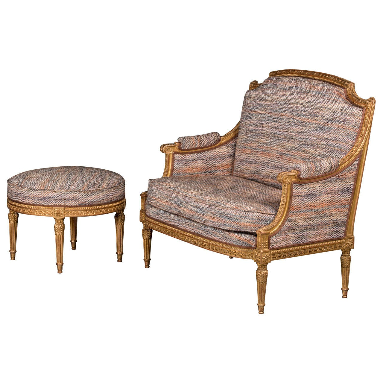Canap and ottoman louis xvi style gilt russia 1860 at for Canape furniture