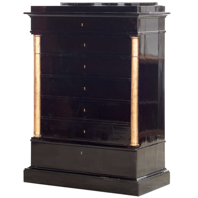 Empire Chiffonier Ebonized, Danish, circa 1840