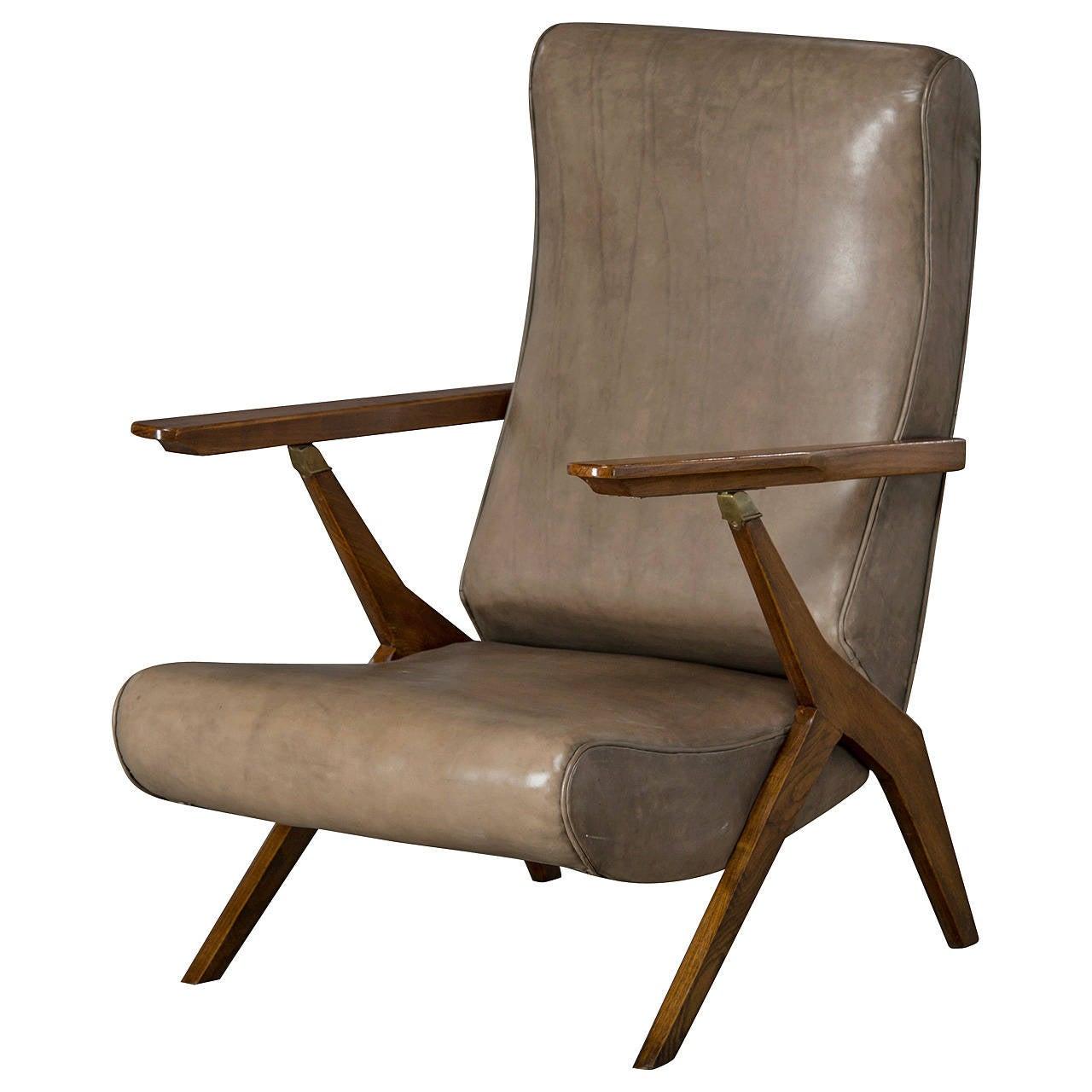 Adjustable Armchair Attributed To Carlo Mollino