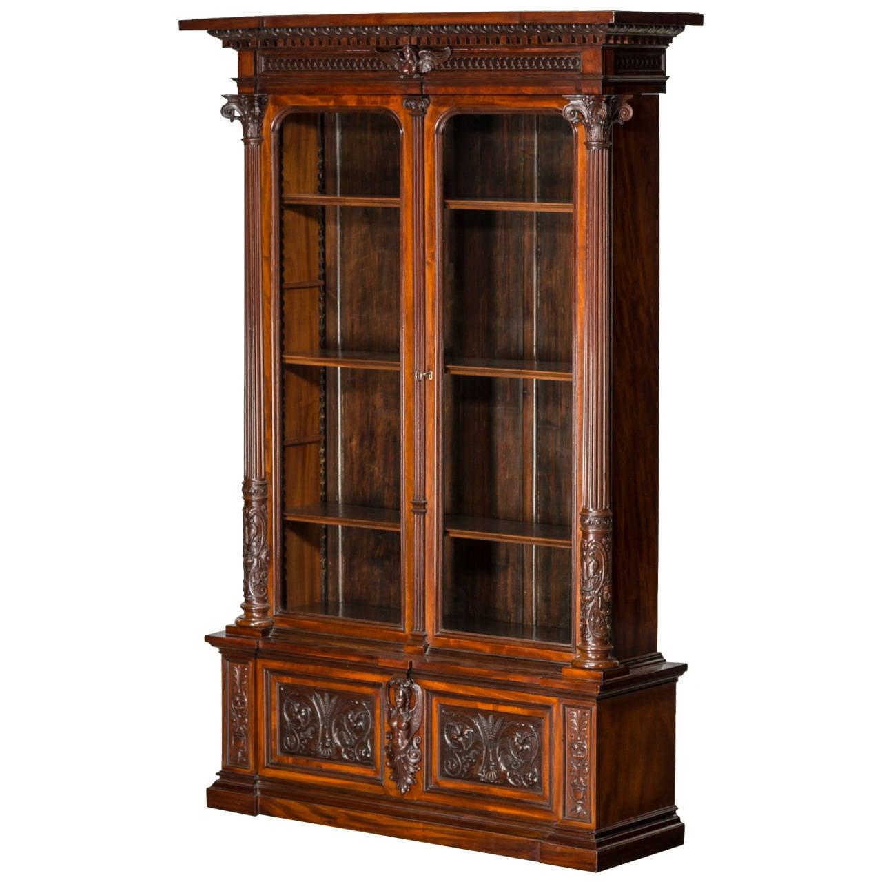Impressive Display Cabinet, England, Mid-19th Century