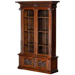 Impressive Display Cabinet, England, Mid-19th Century