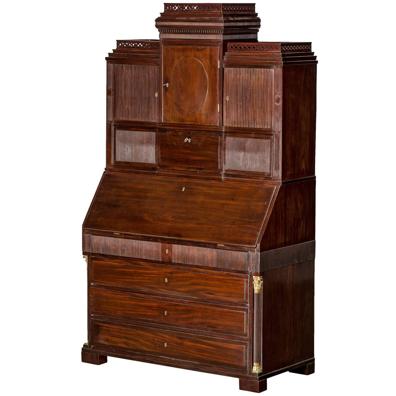 architectural louis xvi bureau denmark circa 1780 for sale at 1stdibs. Black Bedroom Furniture Sets. Home Design Ideas
