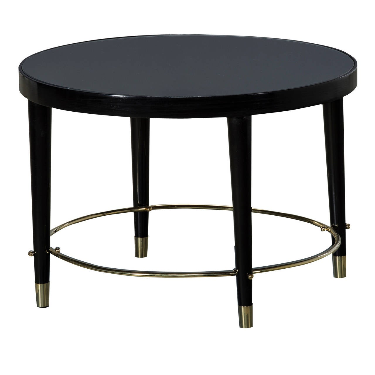 Black lacquered side table italy 1950 at 1stdibs - Archives departementales 33 tables decennales ...