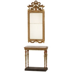 Gustavian Console Table and Mirror