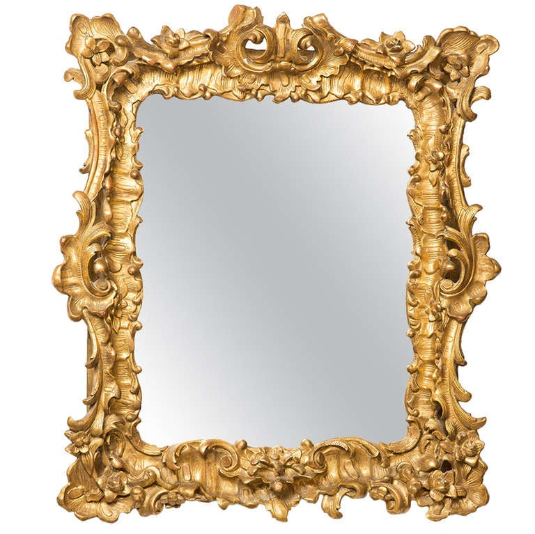 18th century french rococo mirror frame at 1stdibs for Baroque mirror