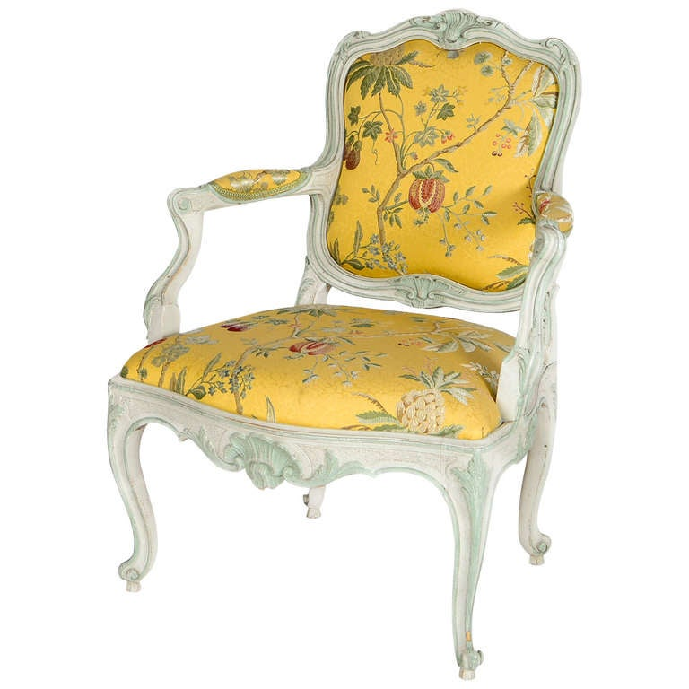 18th Century Swedish Rococo Chair At 1stdibs