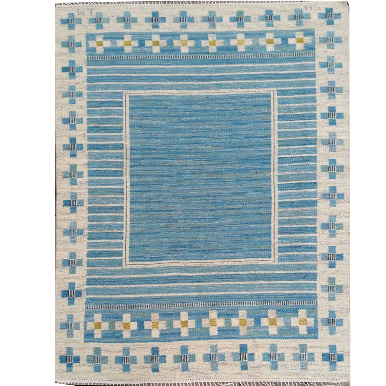 Swedish Flat Weave Rug Designed By Edna Martin At 1stdibs