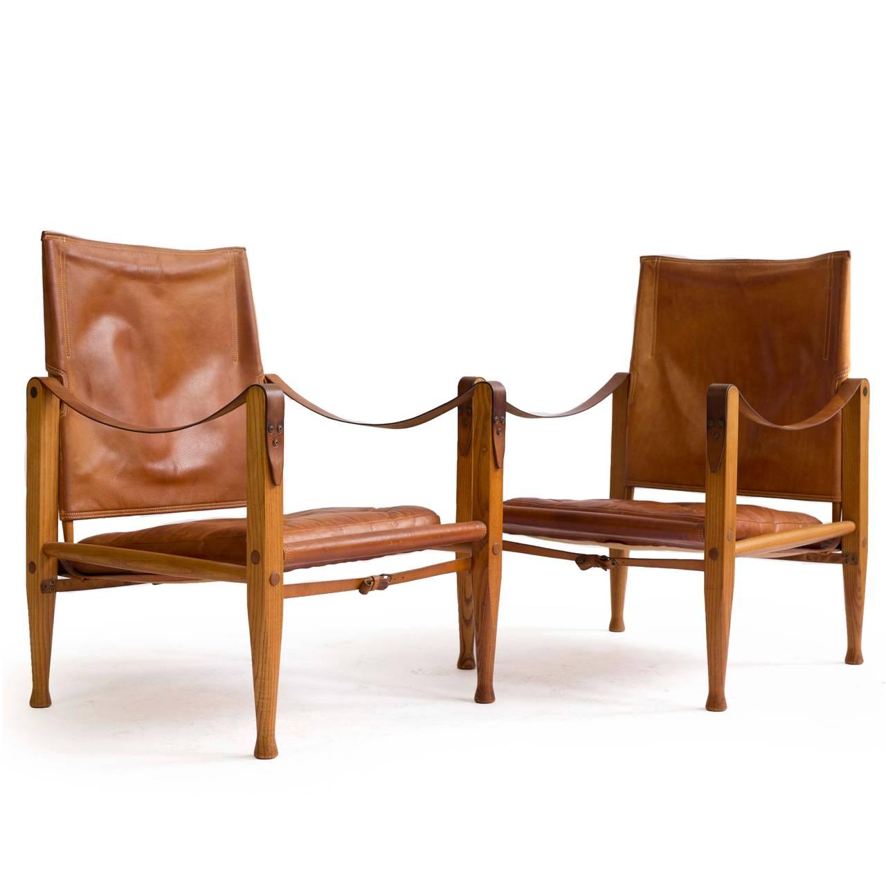 Mid-20th Century Kaare Klint Pair of 'Safari Chairs' for Rud. Rasmussen