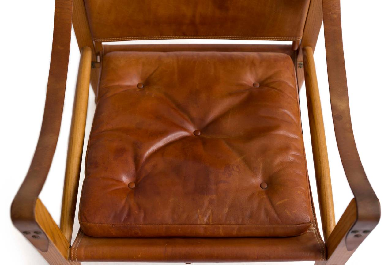 Scandinavian Modern Kaare Klint Pair of 'Safari Chairs' for Rud. Rasmussen