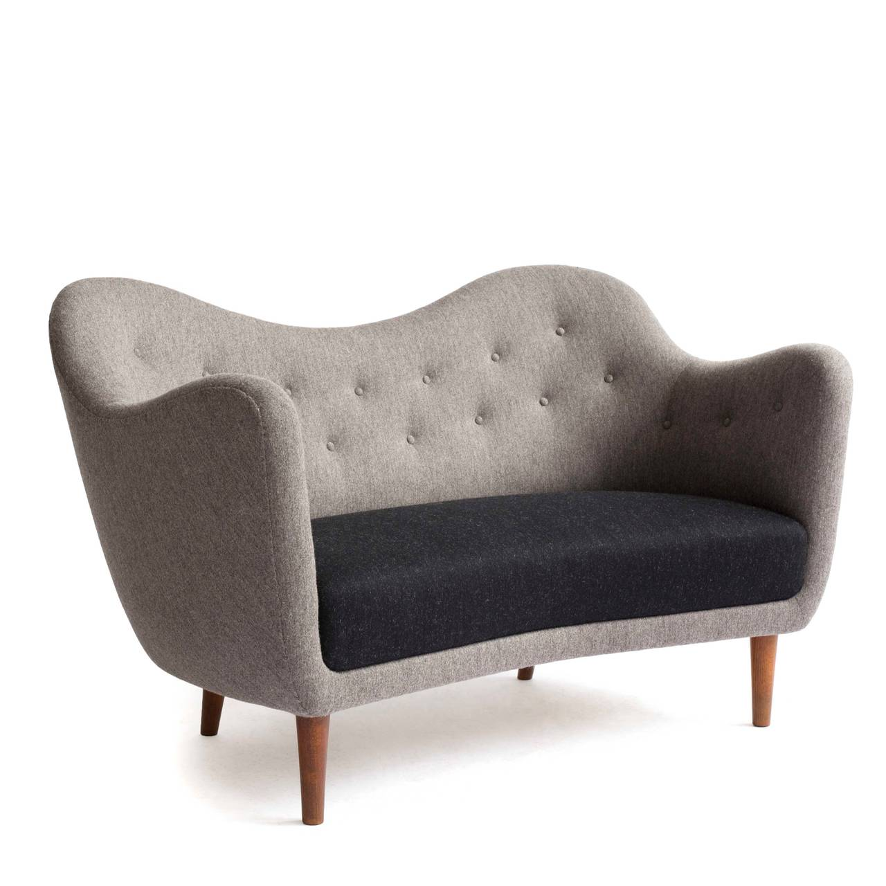 Scandinavian Modern Finn Juhl Bo46 Sofa Made by Bovirke For Sale