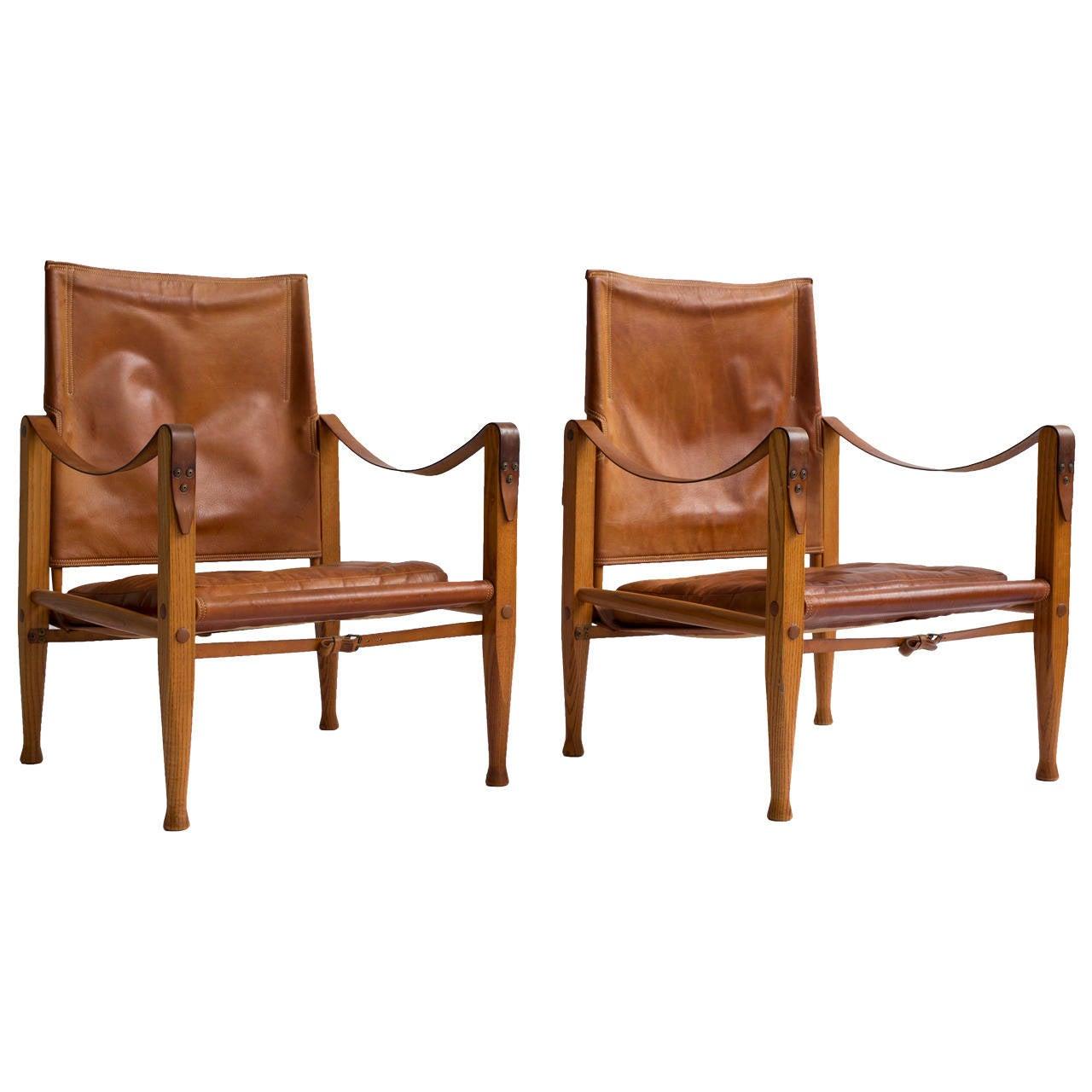 Pair of Kaare Klint Safari chairs for Rud Rasmussen, 1933