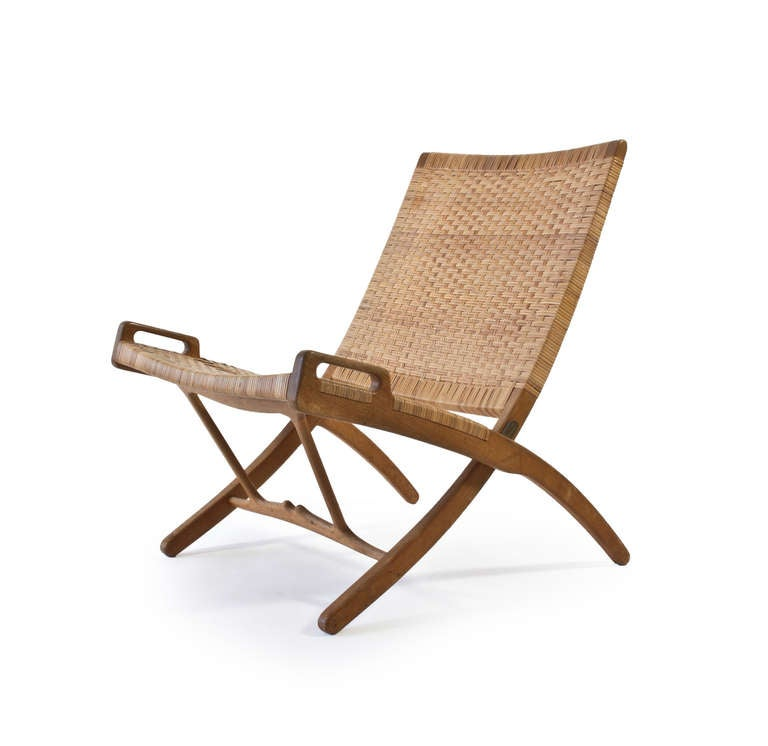 Hans J Wegner Folding Chair For Johannes Hansen At 1stdibs