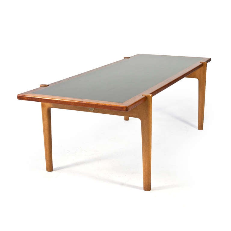 Hans J Wegner Coffee Table With Reversible Top Johannes Hansen At 1stdibs