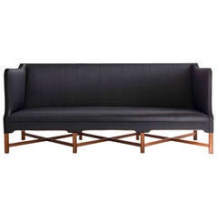 Freestanding Kaare Klint Sofa with Horsehair