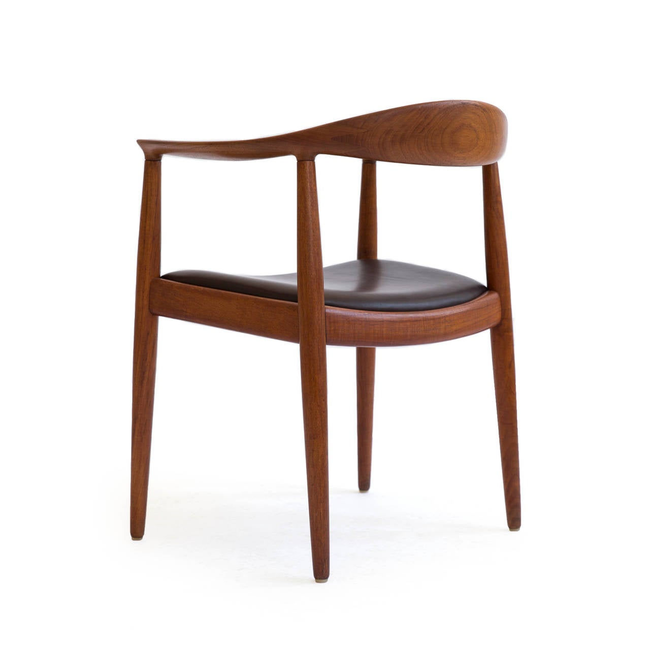 Scandinavian Modern Hans J. Wegner 'The Chair,' Johannes Hansen For Sale
