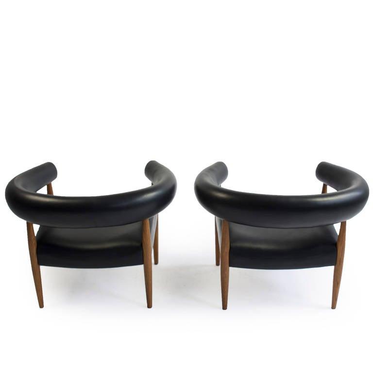pair of nanna ditzel 39 sausage chairs 39 kolds savvaerk image 4