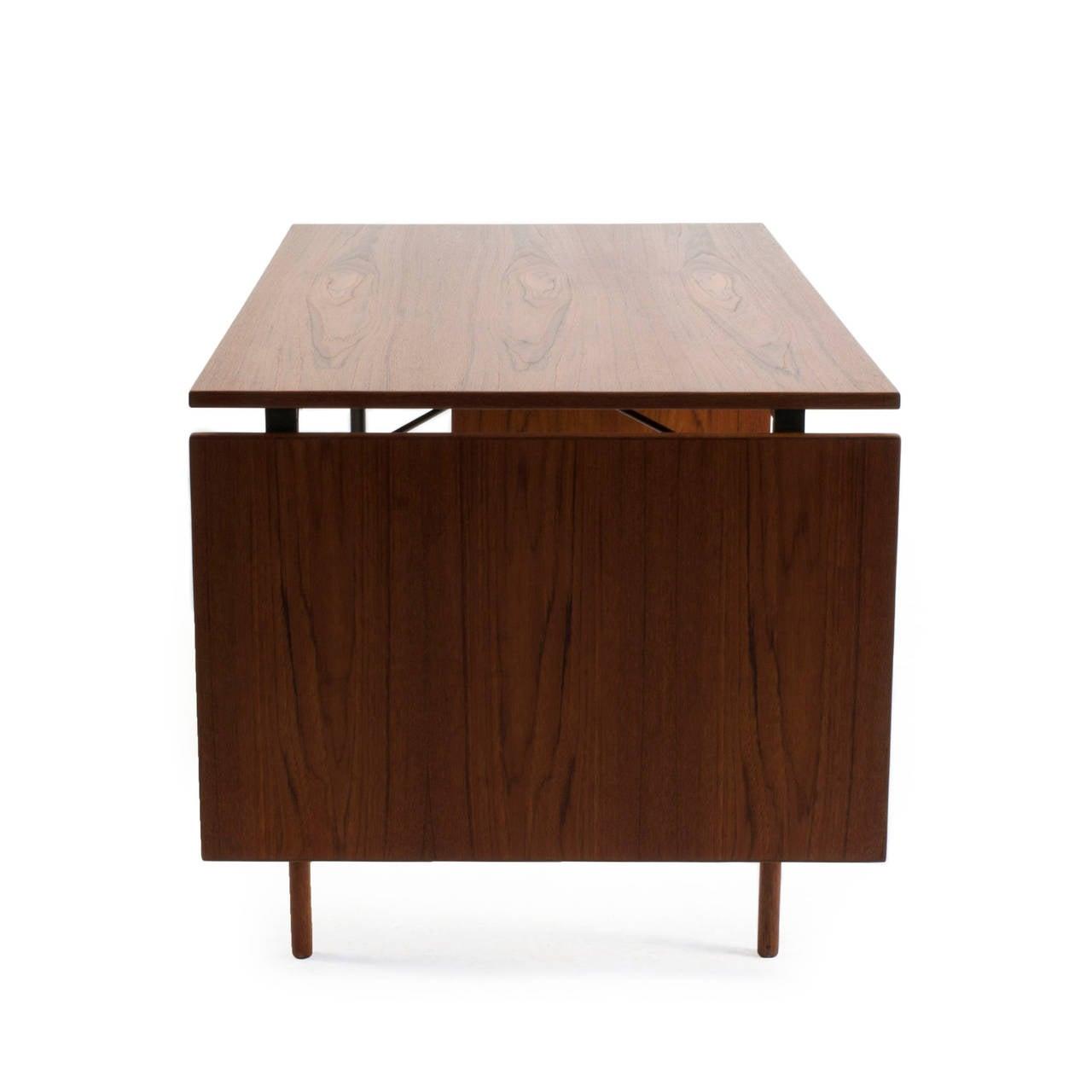 Mid-20th Century Finn Juhl Teak Desk, Bovirke For Sale