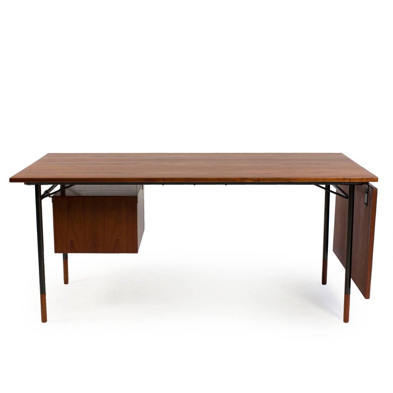 Danish Finn Juhl Teak Desk, Bovirke For Sale
