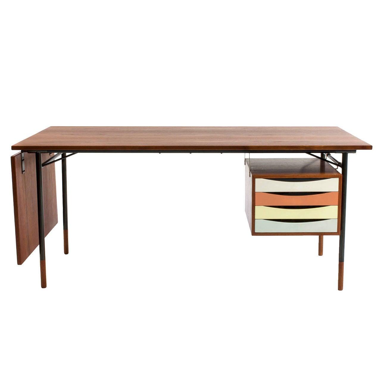 Finn Juhl Teak Desk, Bovirke For Sale