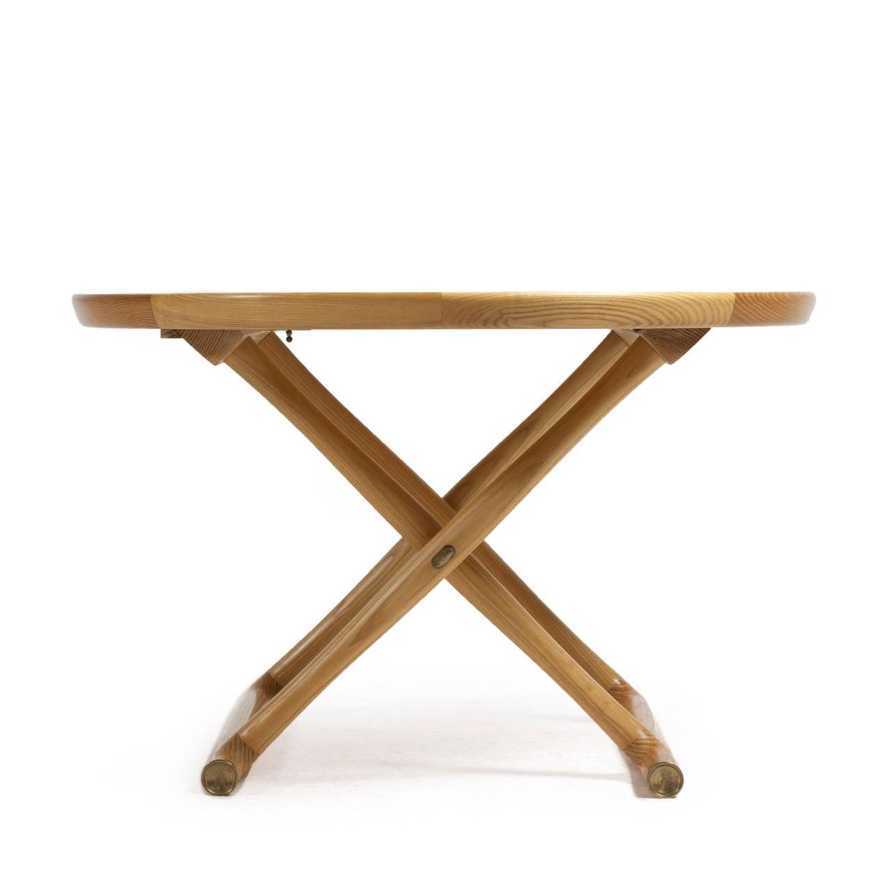 Scandinavian Modern Mogens Lassen Ash Egyptian Table, A. J. Iversen For Sale
