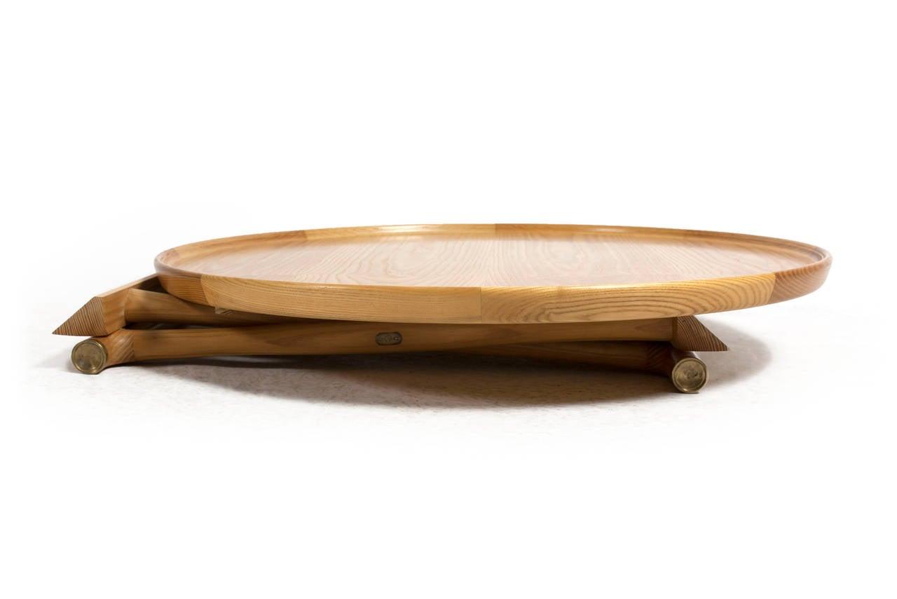 Danish Mogens Lassen Ash Egyptian Table, A. J. Iversen For Sale