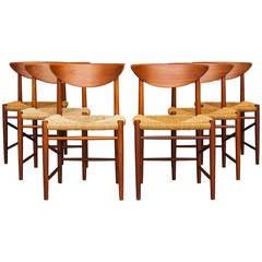Set of 6 Chairs by Peter Hvidt & Orla Mølgaard  for Søborg Furniture.