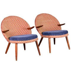 Pair of lounge chairs by Kurt Olsen for Glostrup Furniture.