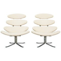 """Pair of """"Corona"""" Chairs by Poul M. Volther for Erik Jørgensen"""