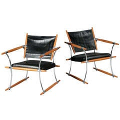 """Pair of """"The Stick chairs"""" by Jens H. Quistgaard."""