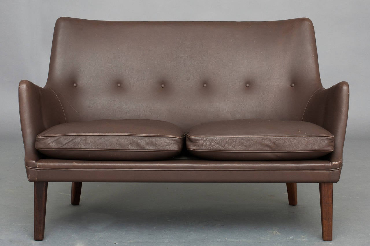 Danish Pair of Sofas and Lounge Chair by Arne Vodder for Ivan Schlechter