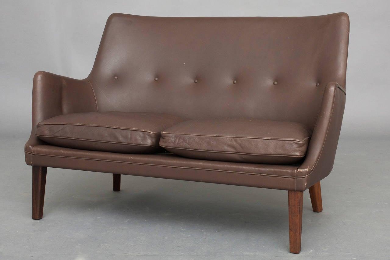 Pair of Sofas and Lounge Chair by Arne Vodder for Ivan Schlechter In Excellent Condition In Copenhagen, DK