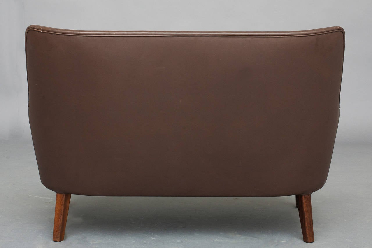 Pair of Sofas and Lounge Chair by Arne Vodder for Ivan Schlechter 1