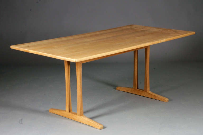 Shaker Table By Børge Mogensen. Waxed Oak. Nice Refinished Condition.