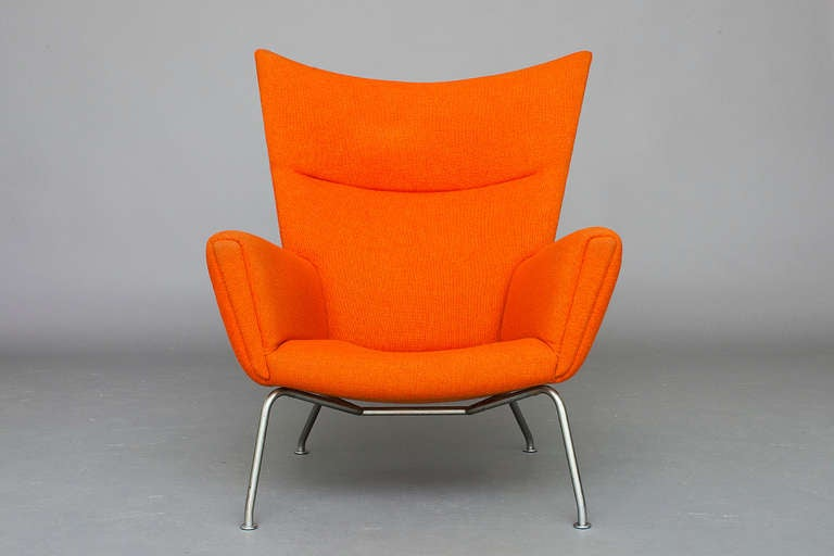 """Wing"" Lounge Chair by Hans J Wegner for AP Stolen at 1stdibs"