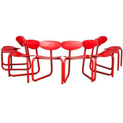 Set of Eight Chairs by Erik Magnussen