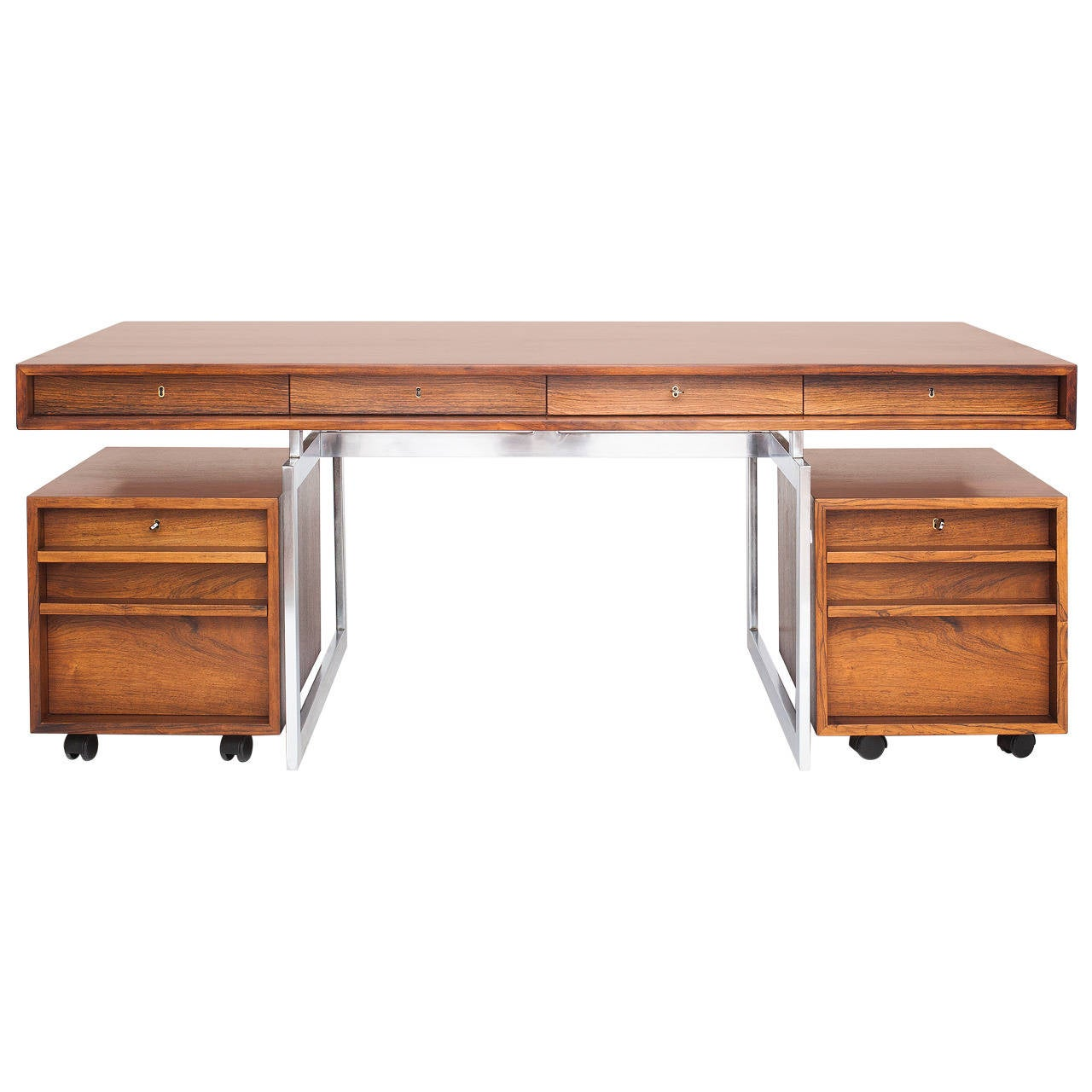 beautiful desk in rosewood at 1stdibs
