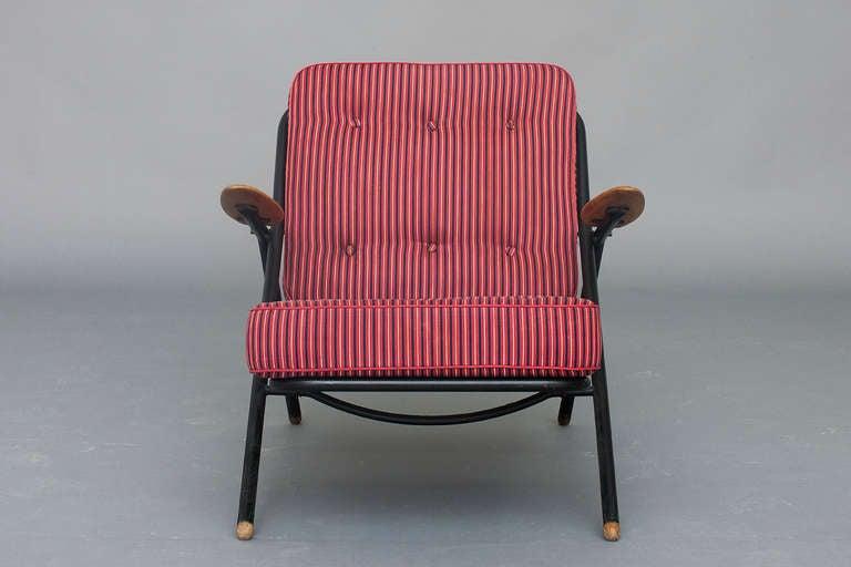 Sawbuck Lounge Chair Model Ge 215 By Hans J Wegner For