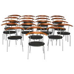 Model JH701 armchairs by Hans J. Wegner for Johannes Hansen