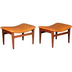 Pair of stools by Finn Juhl for France & Son