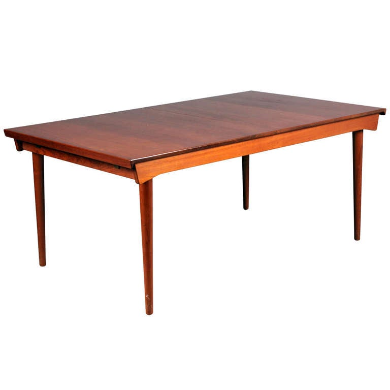 Table with Extension and Extra Leaf by Finn Juhl For Sale